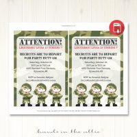 Image of Army Party Invitation