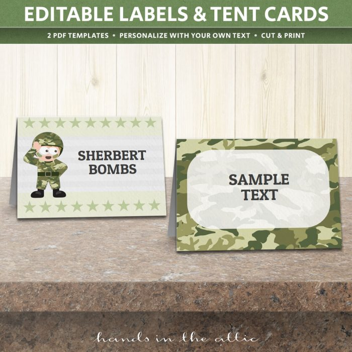 Image of Art Party Tent Cards