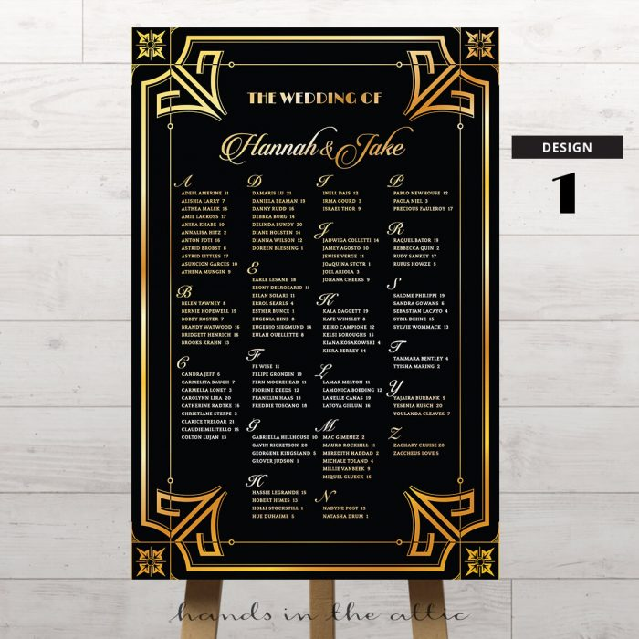 Art Deco Wedding Printable 1