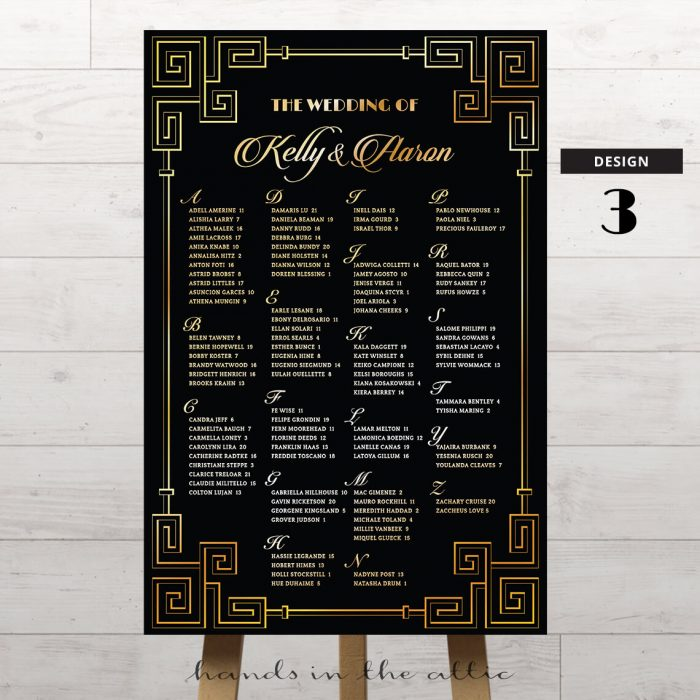 Art Deco Wedding Printable 3