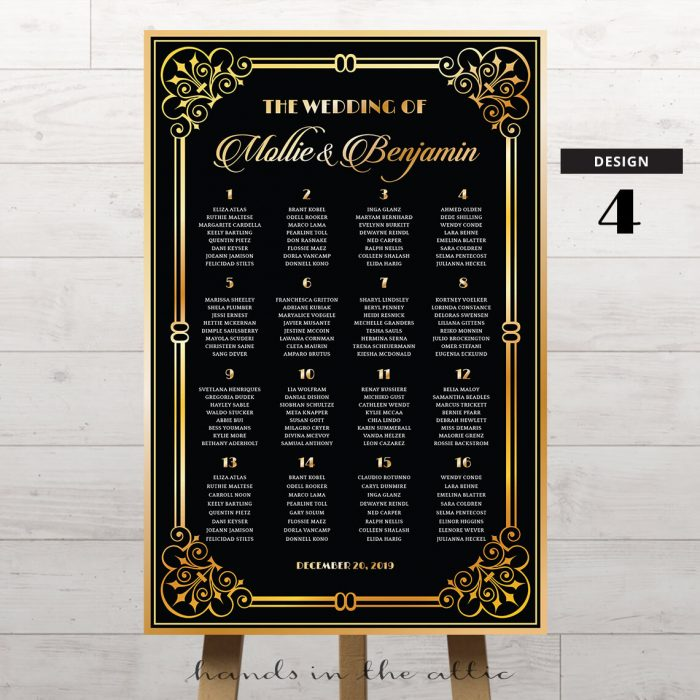 Art Deco Wedding Printable 4