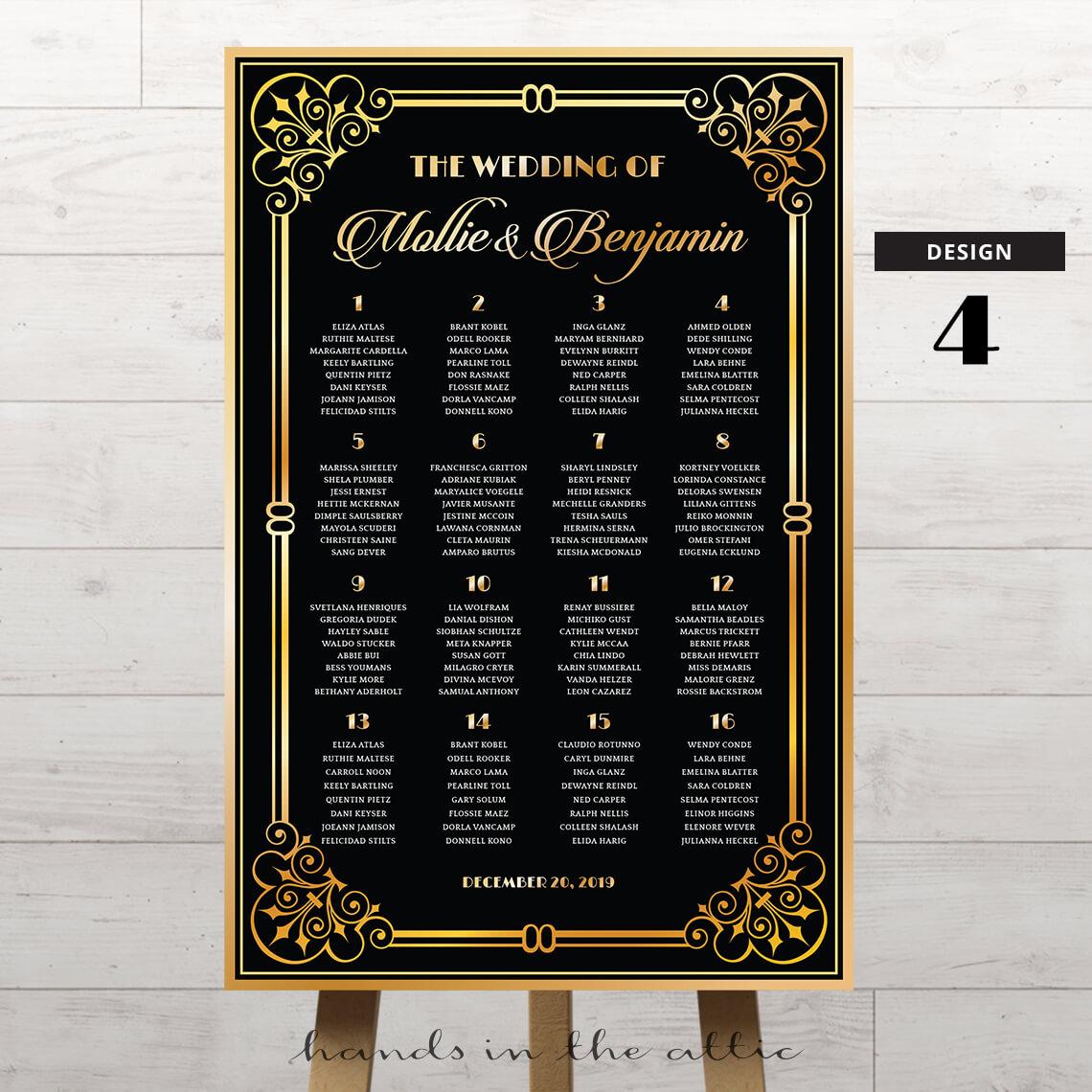 Art Deco Wedding Printable 4