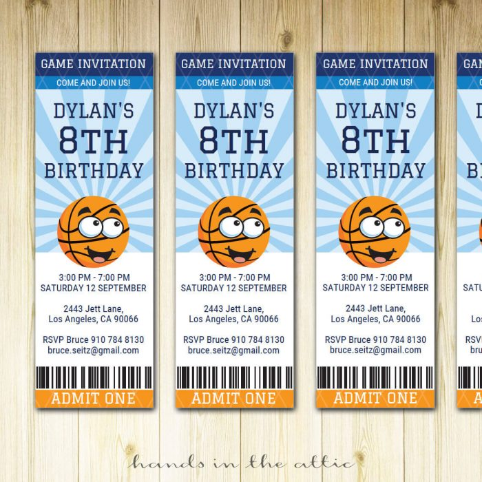 Image of Basketball Ticket Invitation