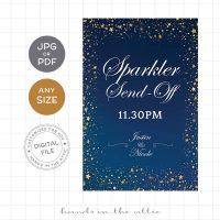 Sparkler Send-off Wedding Sign