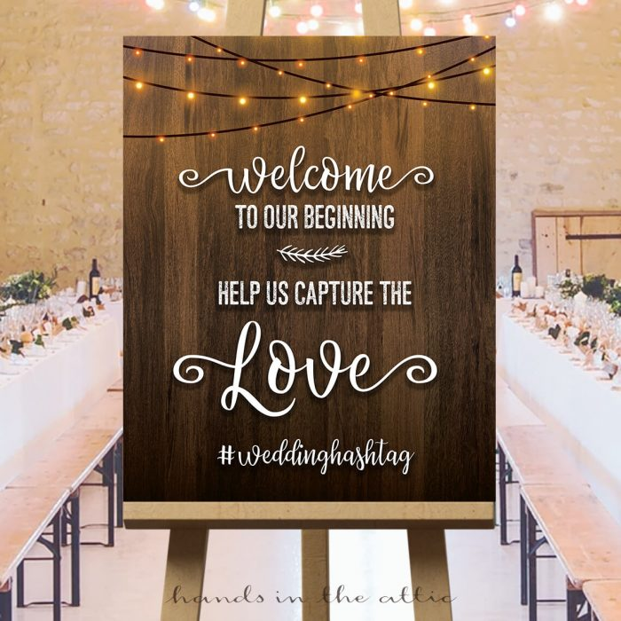 Hashtag Sign for Wedding