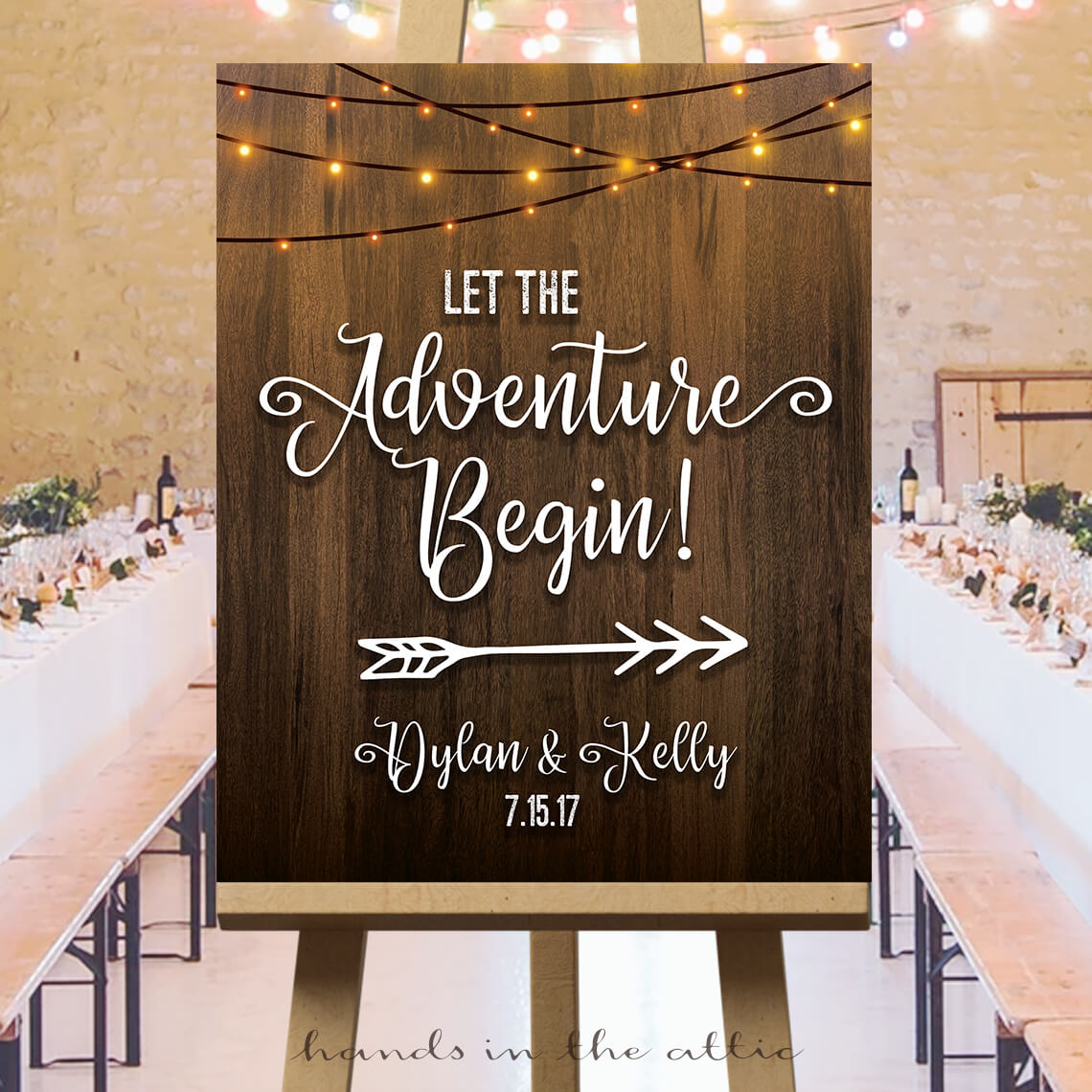 Let the Adventure Begin Sign | Printable Stationery ...