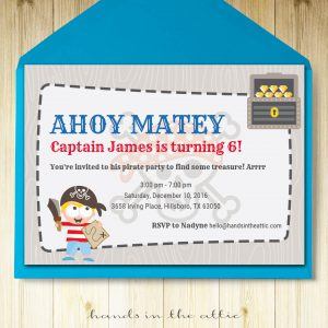 Image of printable Pirate Party Invitation