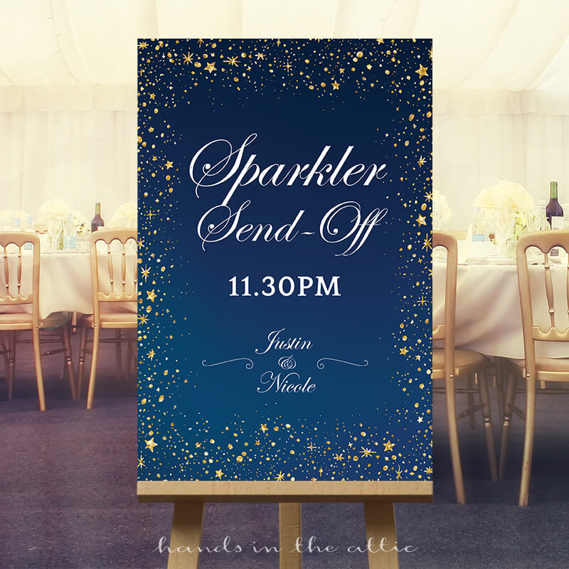 Sparkler Send-off Wedding Sign | Starry Night Sky | Printable ...