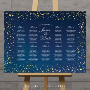 Image of Starry Wedding Seating Plan
