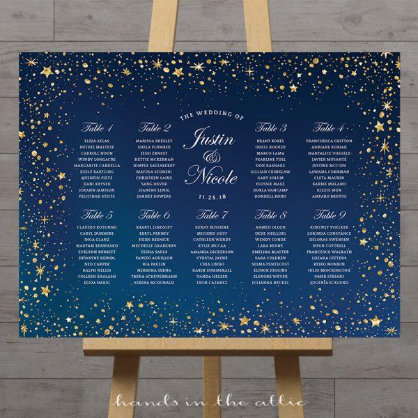 Image of Starry Wedding Seating Plan