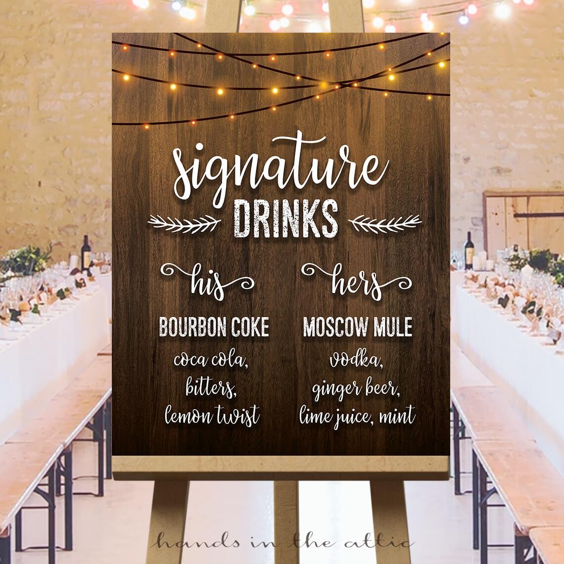 Wedding Signature Drinks.Wedding Signature Drinks