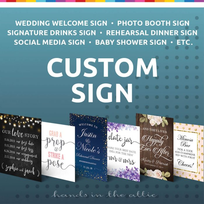 Custom Sign Wedding Baby Shower