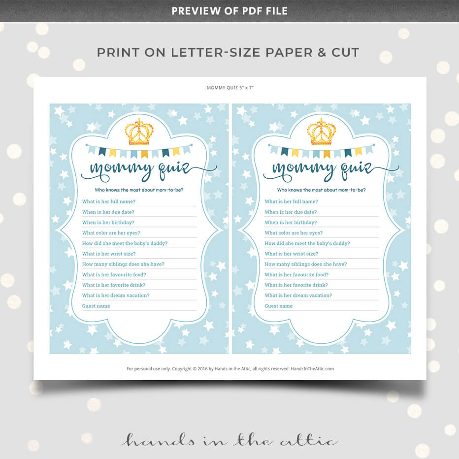 graphic about All About Mom Printable known as Editable Mother Quiz Match Youngster Shower Printable