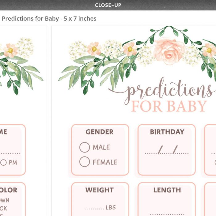 Floral Baby Shower Predictions For Baby