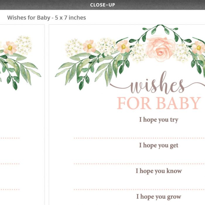 Floral Baby Shower Wishes For Baby Floral Theme