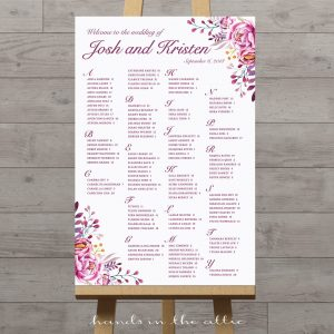 Floral Wedding Seating Chart