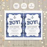 Image for Nautical Oh Boy! Baby Shower Invitation