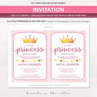 Image for Pink Baby Girl Princess Baby Shower Package
