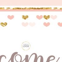 Image for Peach & Gold | Printable Party Signs