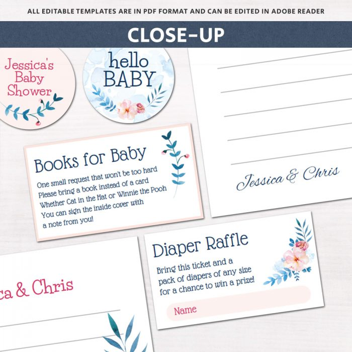 Image for Floral Baby Shower Invitation Kit