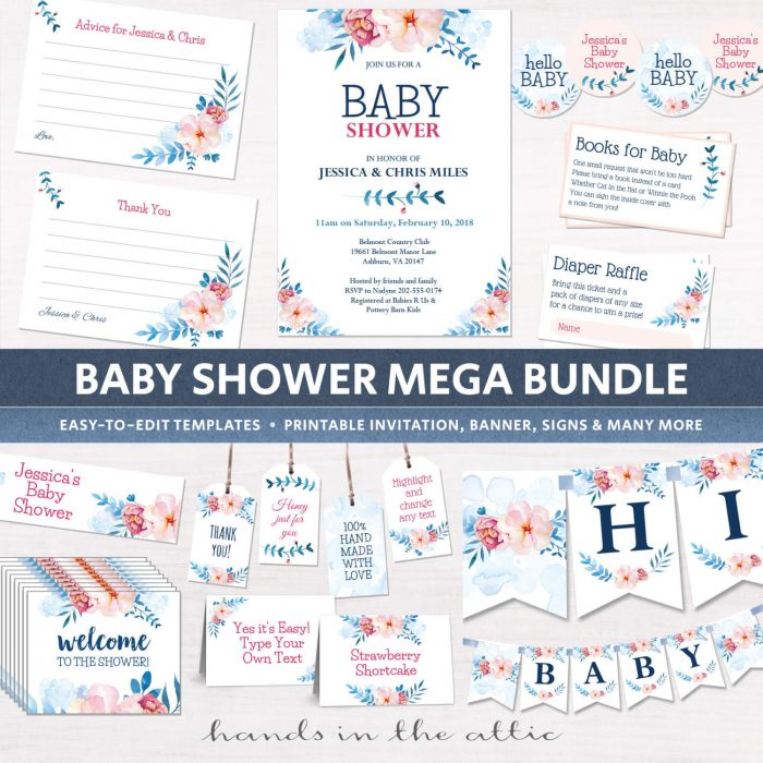 Image for Floral Baby Shower Package