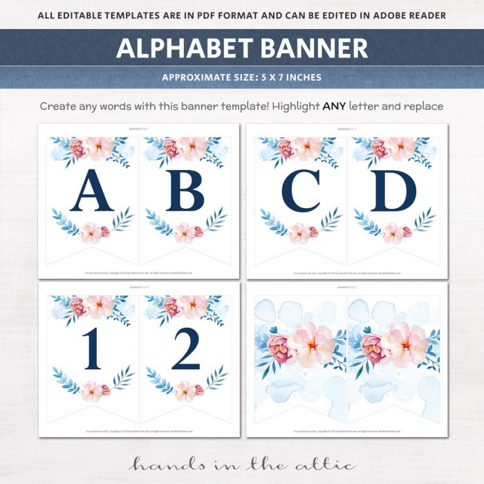 Image for Floral Alphabet Party Banner