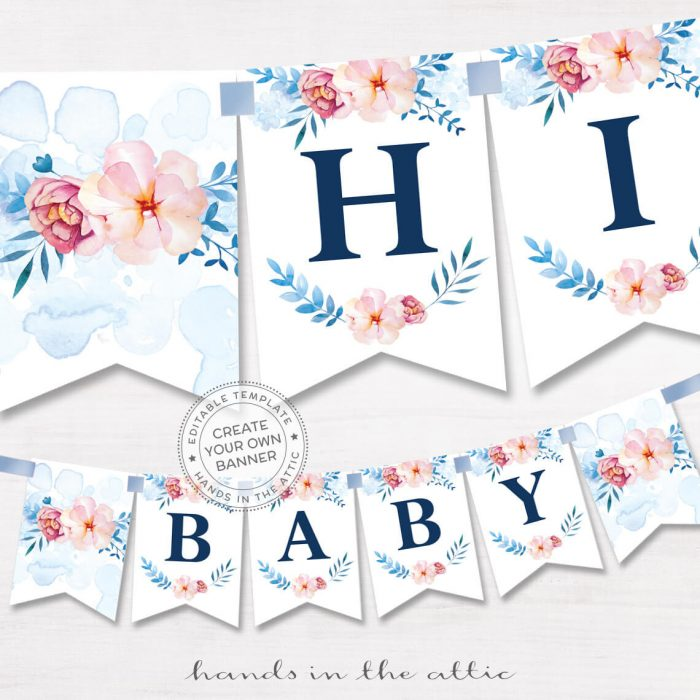 Image for Floral Alphabet Banner