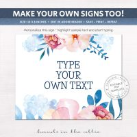 Image for Floral | Printable Party Signs