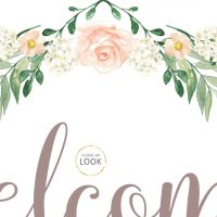 Image for Pink Rose Floral | Printable Party Signs