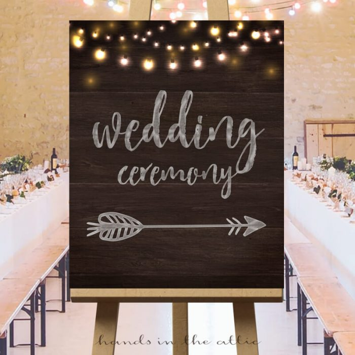 Wedding Ceremony Arrow Sign