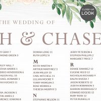 Image for Pink Rose Floral Wedding Seating Chart