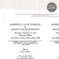 Image for Calligraphic Wedding Program