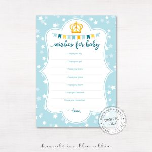 Image for Blue Wishes For Baby Cards