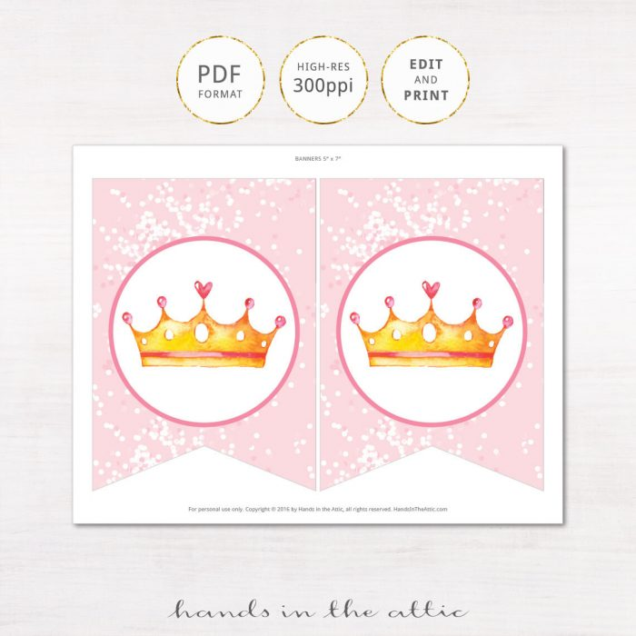 Image for Pink Baby Girl Princess Alphabet Party Banner
