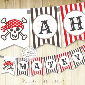 Image for Pirate Birthday Party Banner