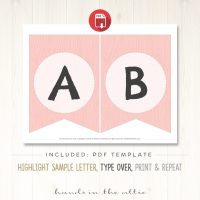 Image for Woodland Animals - Pink Alphabet Party Banner