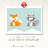 Image for Woodland Animals - Blue Alphabet Party Banner