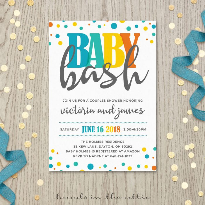 Image for Baby Bash Baby Shower Invitation