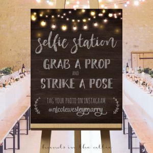 Wedding Hashtag Sign