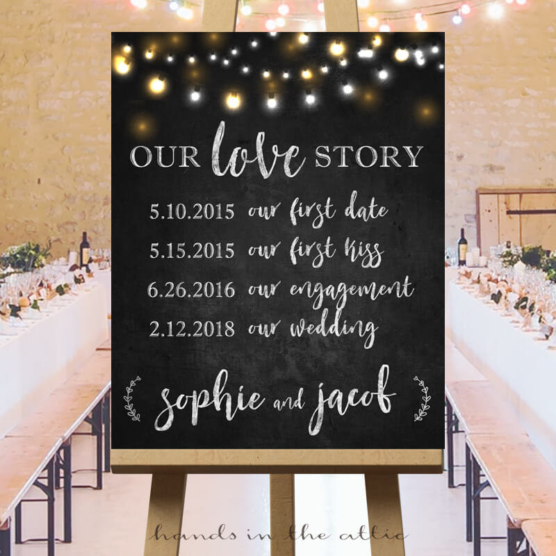 Wedding Love Story Sign