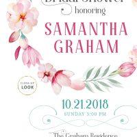 Image for Pink Floral Bridal Shower Invitation