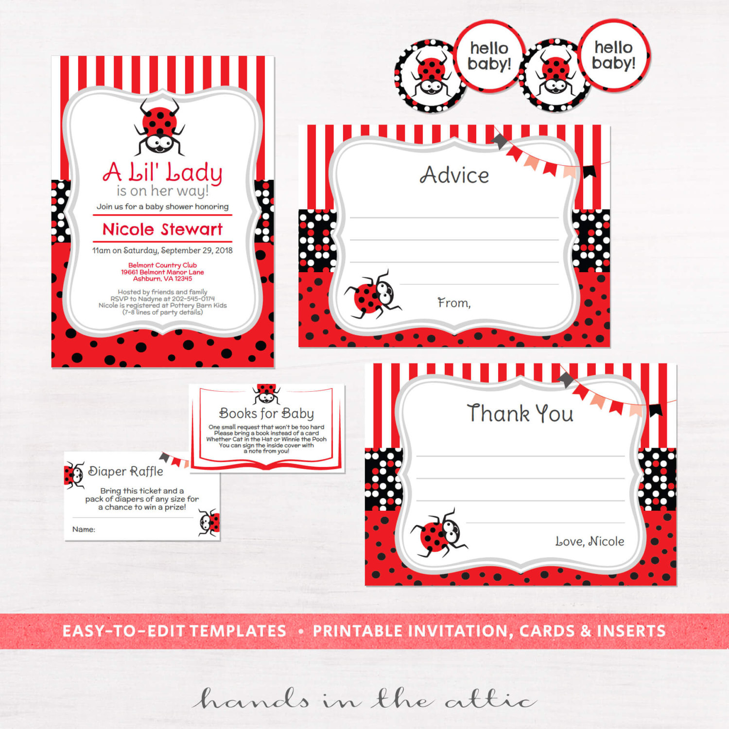 Baby Shower Invitation Kits | Print and personalize at home