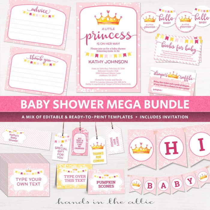 Image For DIY Baby Girl Shower Decoration Kit