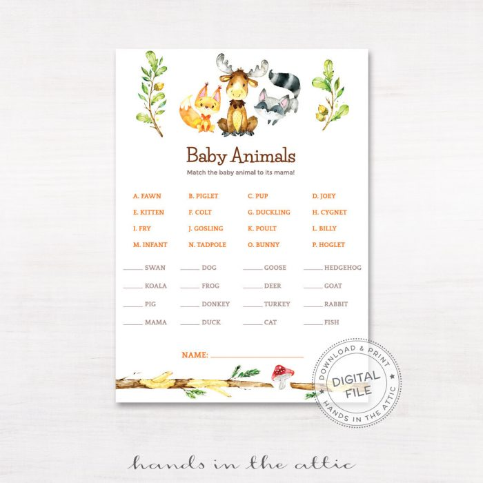 Image for Baby Animals Matching Game