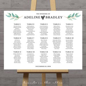 Image for Leaves Wedding Seating Chart