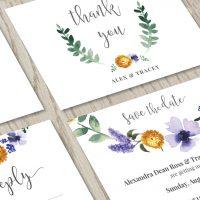 Lavender Floral Wedding Invitation