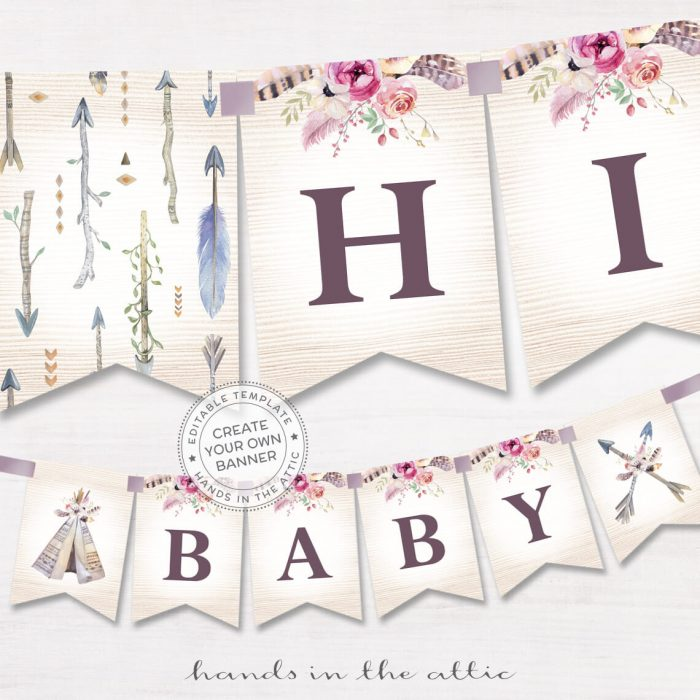 Image for Bohemian Alphabet Party Banner