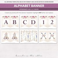Image for Bohemian Theme Alphabet Party Banner