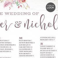 Image for Bohemian Theme Wedding Seating Chart