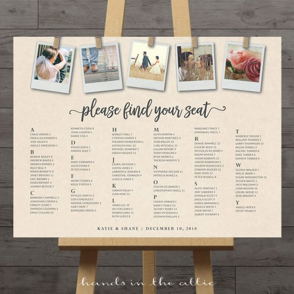 Image for Photos Wedding Seating Chart